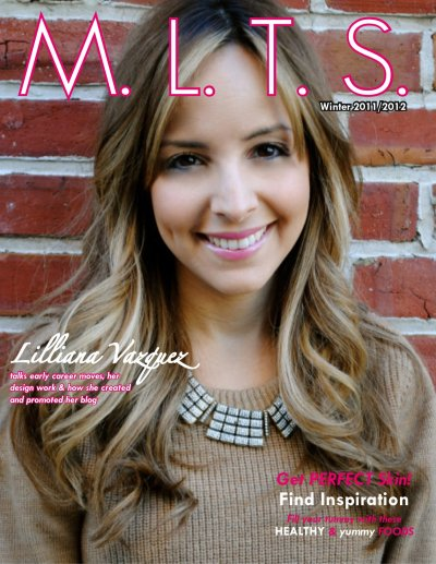M.L.T.S. Magazine Issue 3 cover with Lilliana Vazquez