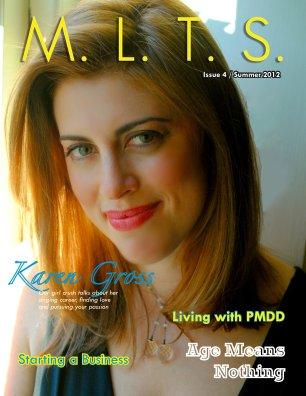 M.L.T.S. Magazine Issue 4 with cover girl, Philadelphia-based cabaret singer Karen Gross